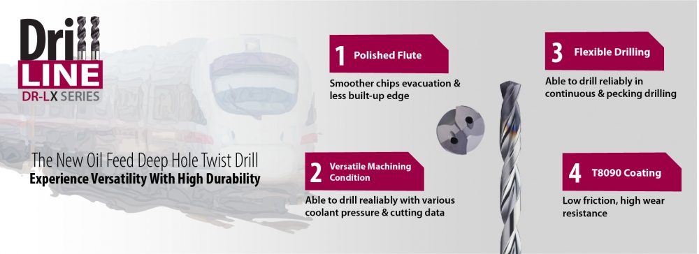 The DR-LX, high-performance deep-hole drill